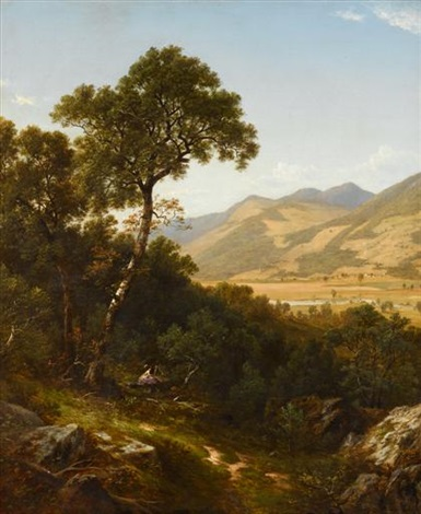 scenery at shelburn [sic], vermont by david johnson